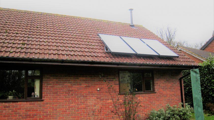 Pellet Boiler and Solar Thermal Retro-fit (Winter 2014)