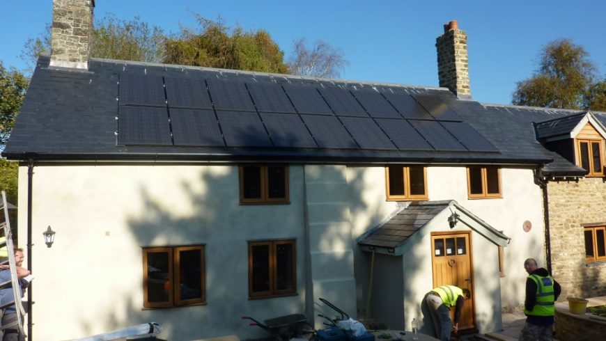 Renewable Energy Makeover for Renovated Somerset Cottage (Summer 2011)